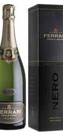 Вино игристое белое экстра брют «Ferrari Perle Nero Extra Brut» 2008 г., в подарочной упаковке