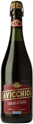 Вино красное полусладкое «Cavicchioli Amabile Lambrusco Di Sorbara»