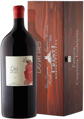 Вино красное сухое «Carpineta Fontalpino Do Ut Des, 3 л» 2010 г. с защищенным географическим указанием в подарочной упаковке