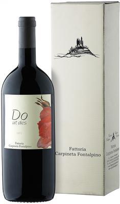 Вино красное сухое «Carpineta Fontalpino Do Ut Des» 2011 г. с защищенным географическим указанием в подарочной упаковке