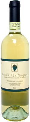 Вино белое сухое «Poderi del Paradiso Vernaccia di San Gimignano» 2014 г. с защищенным географическим указанием