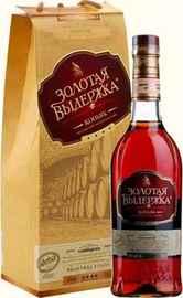 Коньяк российский «Золотая Выдержка» в сувенирной упаковке
