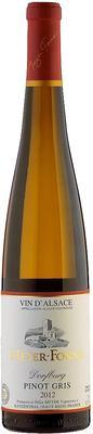 Вино белое полусухое «Meyer Fonne Pinot Gris Dorfburg Grand Cru» 2012 г. с защищенным географическим указанием