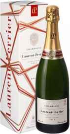 Шампанское белое брют «Laurent-Perrier Brut» в подарочной упаковке (новогодний дизайн)