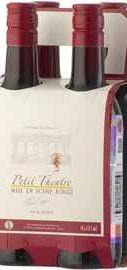 Вино красное полусладкое «Paul Sapin Petit Theatre Mise en Scene, 0.187 л» подарочный набор из 4-х бутылок