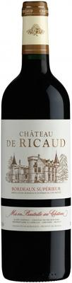 Вино красное сухое «Chateau de Ricaud Bordeaux Superieur» 2013 г.