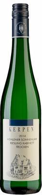 Вино белое сухое «Kerpen Wehlener Sonnenuhr Riesling Kabinett Trocken» 2014 г. с защищенным географическим указанием
