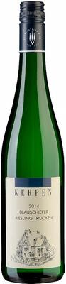 Вино белое сухое «Kerpen Blauschiefer Riesling Trocken» 2014 г. с защищенным географическим указанием