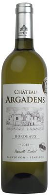 Вино белое сухое «Chateau Argadens Blanc» 2013 г. с защищенным географическим указанием
