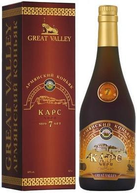 Коньяк армянский  «Great Valley Kars 7 years» в подарочной упаковке