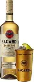 Ром «Bacardi Carta Oro» с металлическим стаканом