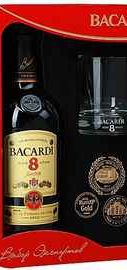 Ром «Bacardi Reserva Superior 8 Years» + стакан