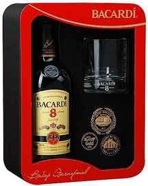 Ром «Bacardi Reserva Superior 8 Years» + стакан