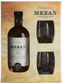 Ром «Mezan Jamaica XO» в подарочной упаковке с 2 бокалами