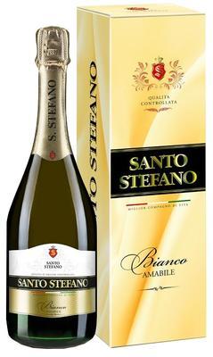 Винный напиток газированный белый полусладкий «Santo Stefano Bianco» в подарочной упаковке