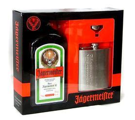 Ликер «Jagermeister» в подарочной упаковке с фляжкой