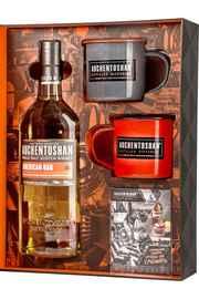 Виски шотландский «Auchentoshan American Oak» в подарочной упаковке, с двумя кружками