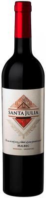 Вино красное сухое «Santa Julia Malbec» 2015 г.