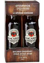 Ром «Bacardi Oakheart Original» в подарочной упаковке 2х0.5