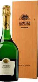 Шампанское белое брют  «Taittinger Comtes de Champagne Blanc de Blancs Brut» 2006 г. в подарочной упаковке