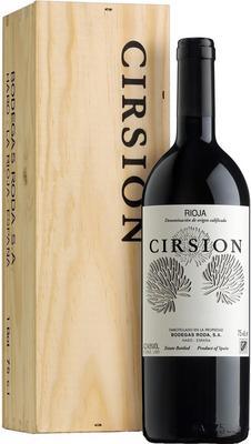Вино красное сухое «Cirsion Rioja» 2010 г. в подарочной деревянной упаковке