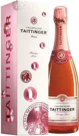 Шампанское розовое брют «Taittinger Prestige Rose Brut» в подарочной упаковке