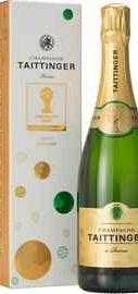 Шампанское белое брют  «Taittinger Brut Reserve FIFA» в подарочной упаковке
