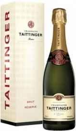 Шампанское белое брют «Taittinger Brut Reserve» в подарочной упаковке