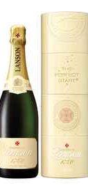 Шампанское белое полусухое «Lanson Ivory Label Demi-Sec Twist Pack» в подарочной упаковке