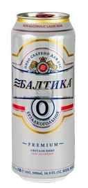 Пиво «Балтика №0» в жестяной банке