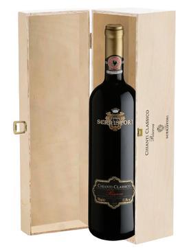 Вино красное сухое «Conti Serristori Chianti Classico Riserva» 2008 г. в подарочной упаковке
