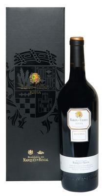 Вино красное сухое «Marques de Riscal Baron de Chirel Reserva» 2001 г. в подарочной упаковке