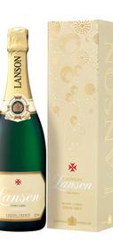 Шампанское белое полусладкое «Lanson Ivory Label Demi-Sec» в подарочной упаковке