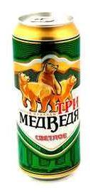 Пиво «Три Медведя» в жестяной банке