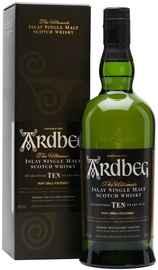 Виски шотландский «Ardbeg 10 YO» в подарочной упаковке
