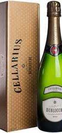 Вино игристое белое брют «Berlucchi Cellarius Franciacorta Brut» в подарочной упаковке