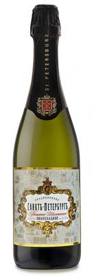 Российское шампанское белое полусладкое «Санкт-Петербург Традиционное»