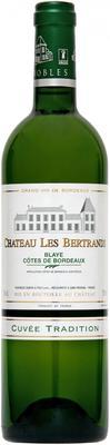 Вино белое сухое  «Chateau Les Bertrands Blanc» 2015 г.