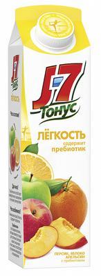 Сок «J7 Тонус Легкость персик яблоко и апельсин с пребиотиком, 1.45 л»
