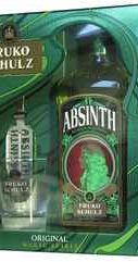 Абсент «Fruko Schulz Absinth» в подарочной упаковке, со стаканом и ложкой