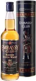 Виски шотландский «Embassy Club» в тубе