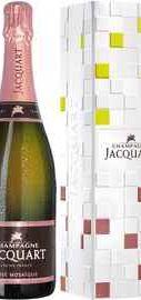 Шампанское розовое брют «Champagne Jacquart Rose Mosaique» в подарочной упаковке
