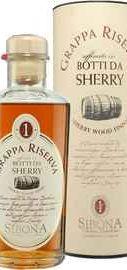 Граппа «Riserva Sherry Wood Finish Sibona» в металлической тубе