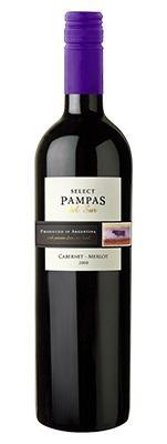 Вино красное сухое «Pampas del Sur Select Cabernet - Merlot» 2012 г.