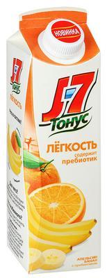 Сок «J7 Легкость апельсин и банан с пребиотиком»