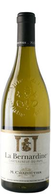 Вино белое сухое «Chateauneuf-du-Pape La Bernardine M.Chapoutier» 2015 г.