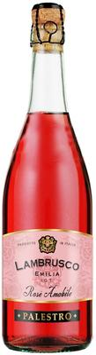 Вино игристое розовое полусладкое «Palestro Lambrusco Emilia rosato»