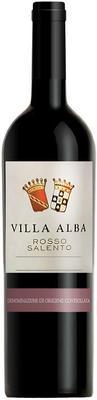Вино красное полусладкое «Villa Alba Rosso Salento» 2015 г.