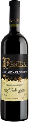 Вино красное полусладкое «Berika Alazani valley red»