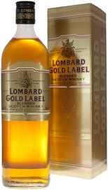 Виски шотландский «Lombard Gold Label» в подарочной упаковке